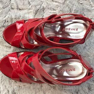 BAMBOO Shoes - BAMBOO Vintage Platform Wedge Sandals Size 9